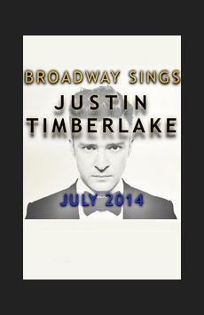 Broadway Sings Justin Timberlake, Feinstein's/54 Below, NYC Show Poster