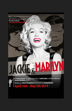 Jackie and Marilyn, The Lion Theatre (Theatre Row), NYC Show Poster