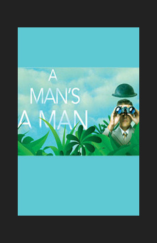 A Man's A Man, Classic Stage Company, NYC Show Poster