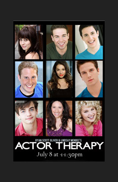Ryan Scott Oliver's and Lindsay Mendez's Actor Therapy, Feinstein's/54 Below, NYC Show Poster