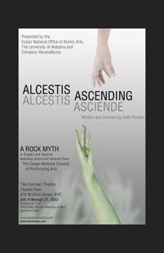 Alcestis Ascending, Theatre Row/Clurman Theatre, NYC Show Poster