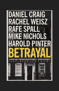 Betrayal, Ethel Barrymore Theatre, NYC Show Poster