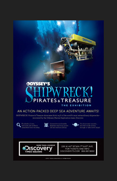 Shipwreck! Pirates & Treasure, Discovery Times Square, NYC Show Poster