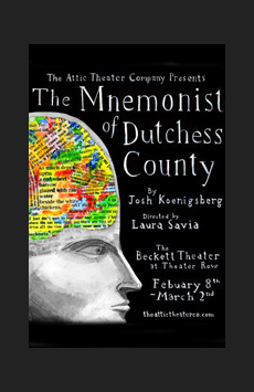 The Mnemonist of Duchess County, The Beckett Theatre (Theatre Row), NYC Show Poster