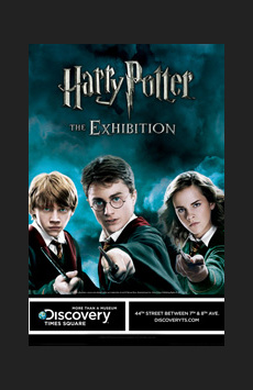 Harry Potter the Exhibition, Discovery Times Square, NYC Show Poster