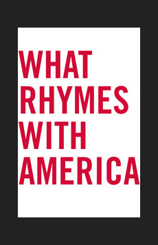 What Rhymes With America, Atlantic Theater Company, NYC Show Poster