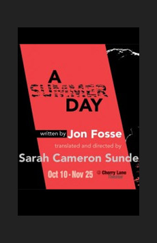A Summer Day, Cherry Lane Theatre, NYC Show Poster