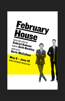 February House, Joseph Papp Public Theater/Martinson Theater, NYC Show Poster