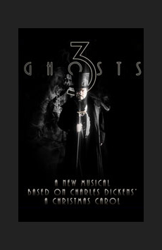 3 Ghosts, The Beckett Theatre (Theatre Row), NYC Show Poster