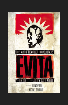Evita, Marquis Theatre, NYC Show Poster