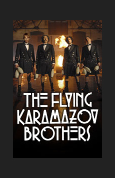The Flying Karamazov Brothers, Minetta Lane Theatre, NYC Show Poster