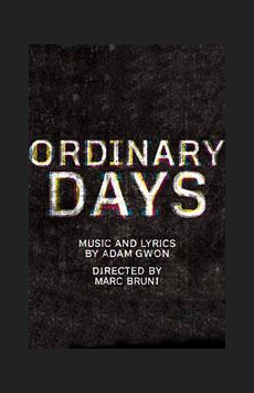 Ordinary Days, Black Box Theatre at the Harold and Miriam Steinberg Center for Theatre, NYC Show Poster