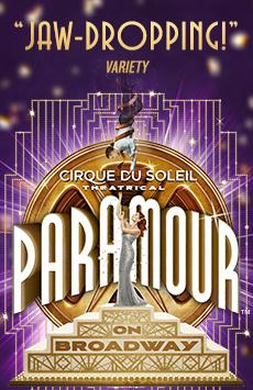 Cirque du Soleil PARAMOUR, Lyric Theatre, NYC Show Poster