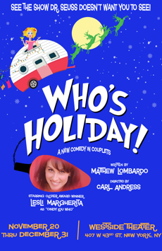Who's Holiday, Westside Theatre , NYC Show Poster