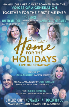 Home For the Holidays, August Wilson Theatre, NYC Show Poster