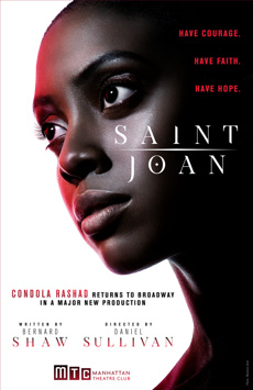 Saint Joan, Samuel J Friedman Theatre, NYC Show Poster