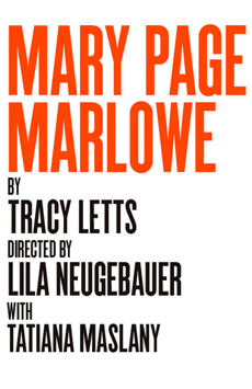 Mary Page Marlowe, Tony Kiser Theatre, NYC Show Poster