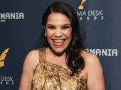 Carousel's Lindsay Mendez is all smiles for her Drama Desk win.