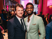 Michael Curry celebrates his win for Outstanding Puppet Design for Frozen with leading man Jelani Alladin, who was nominated for his performance in the Disney juggernaut.