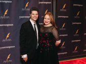 Tom Kitt and his wife Rita Pietropinto celebrate his Drama Desk nomination for his orchestrations for SpongeBob SquarePants.
