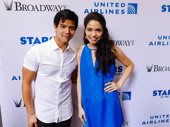Aladdin stars Telly Leung and Arielle Jacobs get together.