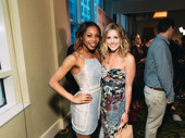 Best Leading Actress in a Musical Tony nominees Once On This Island's Hailey Kilgore and Mean Girls' Taylor Louderman celebrate.
