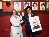 David Yazbek and Patti LuPone goof around.