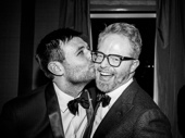 Angels in America standout James McArdle gives smooch to stage and screen star Jesse Tyler Ferguson.