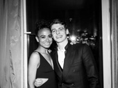 2018 Tony nominees Lauren Ridloff and Anthony Boyle snap a sweet pic.