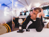 The Band's Visit  director David Cromer takes it all in with his Best Direction of a Musical trophy.