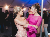 Stephanie Styles celebrates with Broadway favorite Laura Osnes.