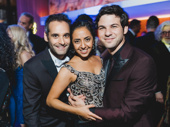 The Band's Visit cast members Jonathan Raviv, Sharone Sayegh and Etai Benson get together.