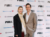 Actress and Public Theater alum Claire Danes with husband and fellow Broadway alum Hugh Dancy.