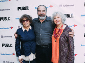 Former Public Theater producer and famed casting director Rosemarie Tichler with two-time Tony winner Mandy Patinkin and his wife, Kathryn Grody.