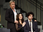 Jack Wetherall as Elliott Isaac, Idina Menzel as Jodi and Eli Gelb as Benjamin in Skintight.