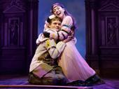 Andrew Durand as Musidorus and Alexandra Socha as Philoclea in Head Over Heels.