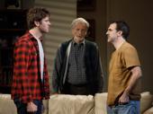 Armie Hammer as Drew, Stephen Payne as Ed and Paul Schneider as Matt in Straight White Men.