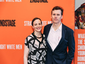 Tony nominee Maria Dizzia and playwright husband Will Eno spend date night at the opening of Straight White Men.