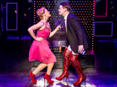 Carrie St. Louis as Lauren and David Cook as Charlie Price in Kinky Boots.