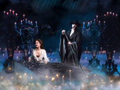 Ali Ewoldt as Christine and Ben Crawford as The Phantom in The Phantom of the Opera.