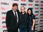 Girl From the North Country's artistic director Oskar Eustis with the show's writer/director Conor McPherson and associate art director Mandy Hackett.