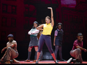 Brianna-Marie Bell (Jane) & the touring company of A Bronx Tale, photo by Joan Marcus