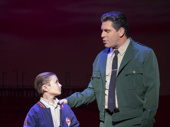 Frankie Leoni (Young C) & Richard H. Blake (Lorenzo) in the national tour of A Bronx Tale, photo by Joan Marcus