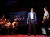 Joe Barbara (Sonny), Richard H. Blake (Lorenzo) & the touring company of A Bronx Tale, photo by Joan Marcus
