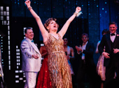 The Prom star Beth Leavel celebrates during curtain call.