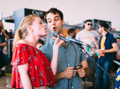Paramour stars Ruby Lewis and Ryan Vona keep the music fest going between set changes.