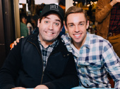 Hello! The Book of Mormon's hilarious duo Christopher John O'Neill and Nic Rouleau pose for a pic.