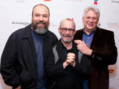 A trio of Broadway greats: Danny Burstein, Joel Grey and Harvey Fierstein snap a pic.