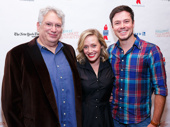 """Everybody say """"yeah""""! Kinky Boots creator Harvey Fierstein strikes a pose with current stars Haven Burton and Aaron Finley."""