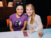Two best friends sharing one wonderful day! Wicked stars Jennifer DiNoia and Carrie St. Louis snap a sweet pic.